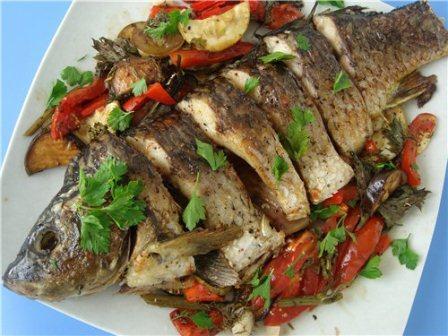 Рыба, запеченная по-гречески