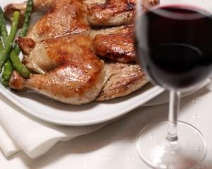 Цыпленок табака в красном вине