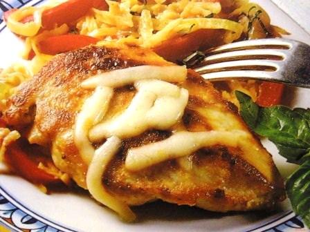 Курица в коньяке с сыром